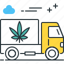 cannabis delivery, cannabis shipping, marijuana delivery, marijuana shipping, truck icon