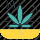 cannabis smell, ganja, leaf, marijuana smell, odor, smell, whiff icon