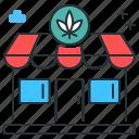 buying weed, cannabis, ganja, marijuana, weed bar, weed shop, weed store icon