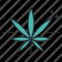 cannabis, cannabis sativa, ganja, leaf, marijuana, sativa, seratonin icon