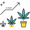 cannabis plant, growing weed, leaf, marijuna plant, veg phase, vegetative, vegging cannabis icon