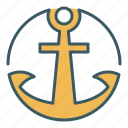 circle, marine, anchor, ship, sailor