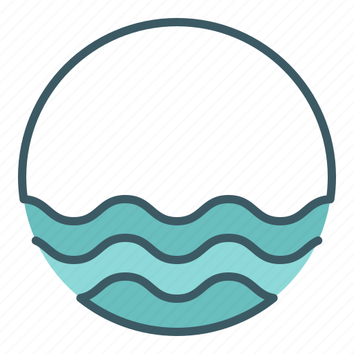 circle, marine, ocean, sea, water icon