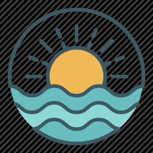 Circle, ocean, sea, summer, sun, sunrise, sunset icon - Download on Iconfinder