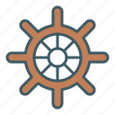 boat, marine, navigation, ship, steering, wheel icon