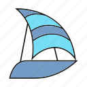 boat, navigate, sail, sailboat, ship, yawl icon