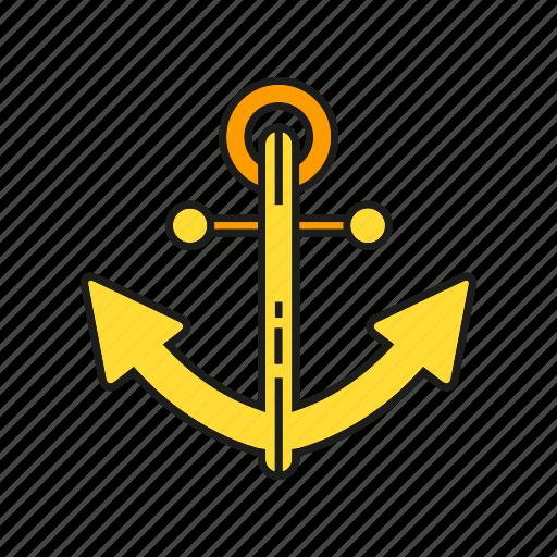anchor, navigation, navy, sailing icon