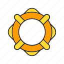 float, lifeboat, lifebuoy, marine, nautical, ocean, preserver icon