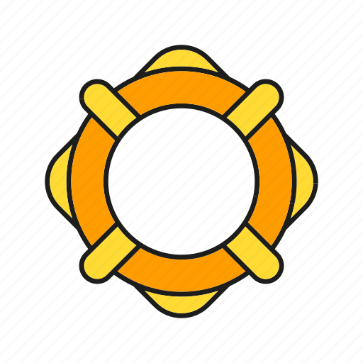 float, lifeboat, lifebuoy, marine, nautical, ocean, preserver icon