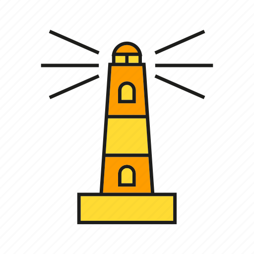 beacon, building, lighthouse, navigation, signal, tower icon