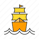barque, marine, nautical, ocean, ship, travel, vessel icon