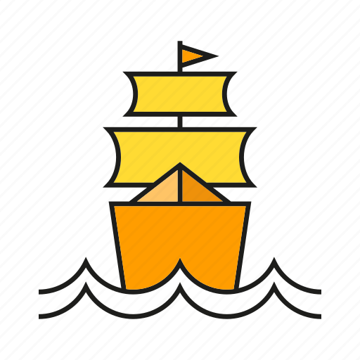 barque, marine, nautical, ocean, ship, travel, vessel icon