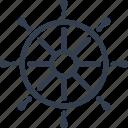 wheel, ship, marine, steering, nautical, boat, travel, gear, sea