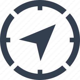 arrow, compass, gps, location, marine, nautical, navigation icon