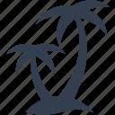 coconut, island, leaves, tree, cocos, palm, marine, plant, nautical, nature