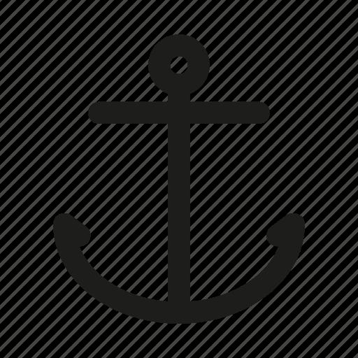 anchor, boat, boat anchor, man anchor, nautical, sail, sailing icon