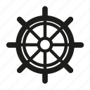 helm, sail, sailing, sea, ship, wheel icon