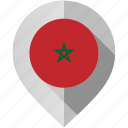 flag, map, marker, morocco icon