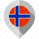 flag, map, marker, norway icon