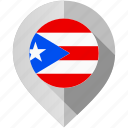country, flag, location, map, marker, puerto rico, world icon