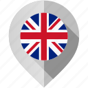 country, flag, kingdom, location, map, marker, united icon