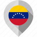 country, flag, location, map, marker, venezuela, world icon