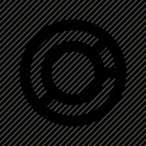 analytics, circle chart, donut chart, infographic, statistics icon
