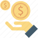 earnings, income, investment, money, payment icon