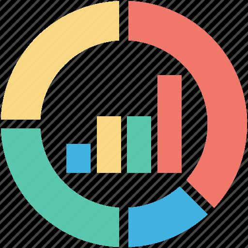 analysis, analytics, bar graph, graph, pie chart icon