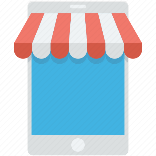 commerce, m commerce, mobile, online shop, online store icon