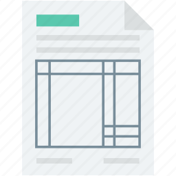 bill, document, invoice, receipt, voucher icon