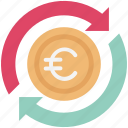 currency, currency exchange, euro, euro valuation, foreign exchange icon