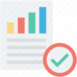 approved, bar graph, business report, graph report, statistics icon