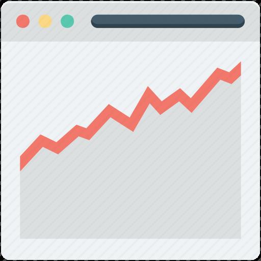 graph, line graph, online graph, web analytics, webpage icon