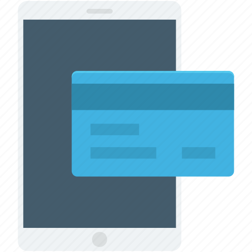 credit card, m commerce, mobile, mobile banking, transaction icon