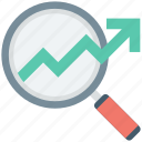 analytics, growth chart, infographics, search chart, search graph icon