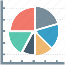 chart, diagram, graph, pie chart, pie graph icon