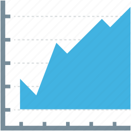 analytics, economy graph, financial chart, graphic report, report icon
