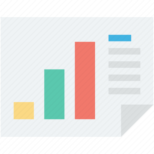 bar graph, business report, graph report, statistics, stock analysis icon