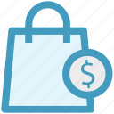 dollar, hand bag, shopping, shopping bag icon