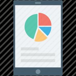 infographic, mobile graph, online graph, pie chart, pie graph icon