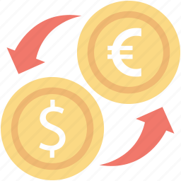 currency converter, foreign exchange, forex, forex trading, money exchange icon