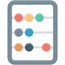 abacus, ancient calculator, calculating machine, calculation, counting frame icon