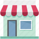 market, marketplace, retail shop, shop, shopping store, store, vender icon