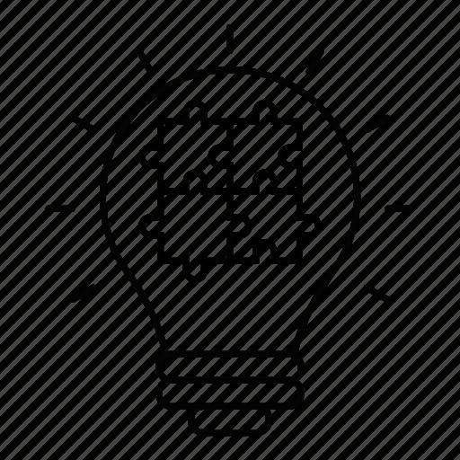 idea, jigsaw, marketing, piece, puzzle, solution icon