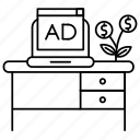 ad, advertise, advertisement, money, sponsor icon