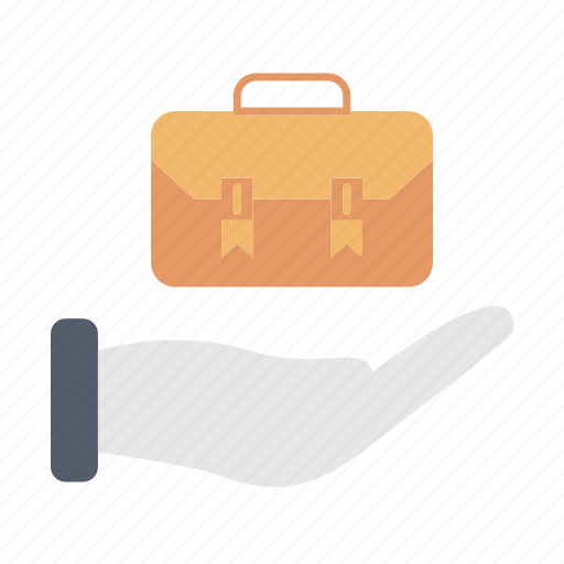 briefcase, luggage, market & economics, portfolio icon