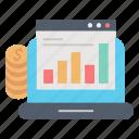 analytics, budget, business, diagram, market & economics, online icon