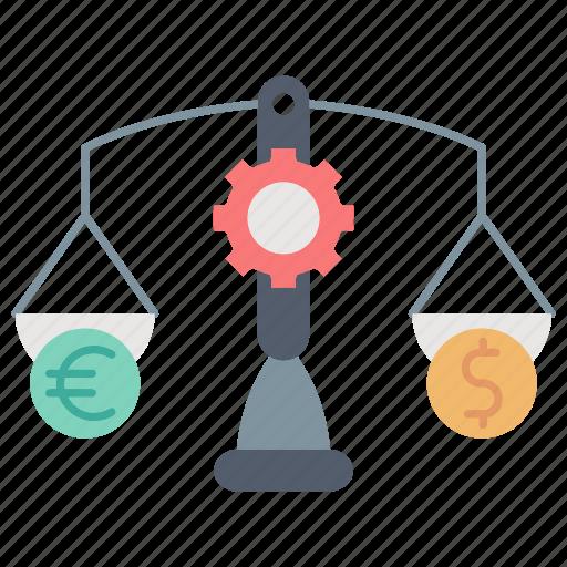 balance, banking, budget, finance, market & economics, scale icon