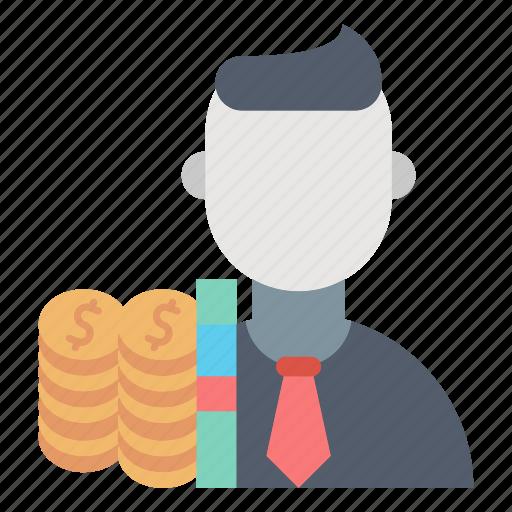business, costs, employee, market & economics, worker icon